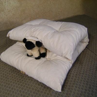 Coussin de relaxation laine et tissu coton