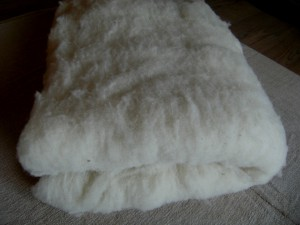 Nappe de laine pour couette
